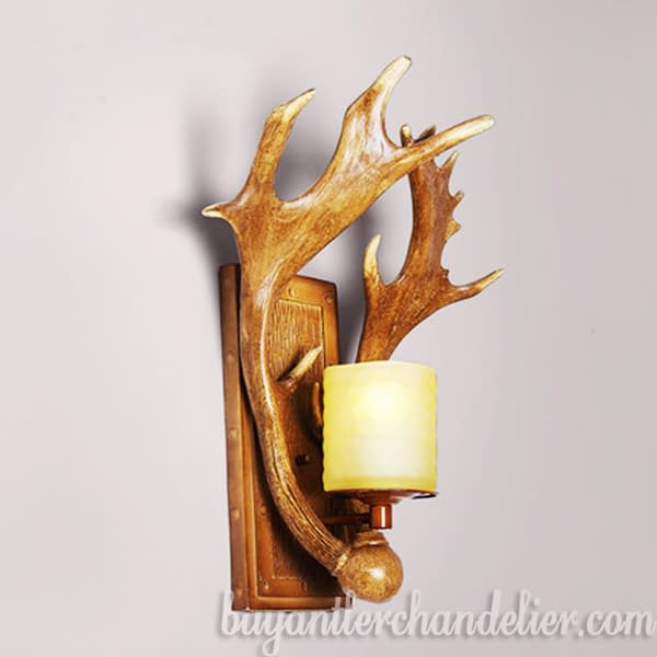 Moose Antler Wall Lights Sconces Outdoor Lamp With Plug In Buyantlerchandelier Com