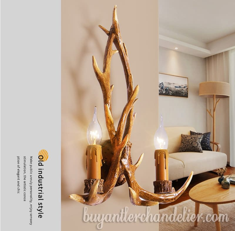 Antler Wall Light Sconces Rustic