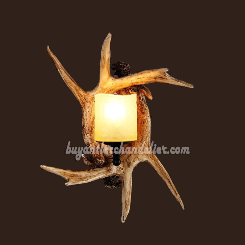 Deer Antler Wall Sconces 2 Cast Corridor Candle Style Lights Lamps Buyantlerchandelier Com