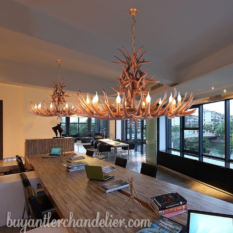 Antler Chandeliers Rustic Pendant Lights for Living Room ...