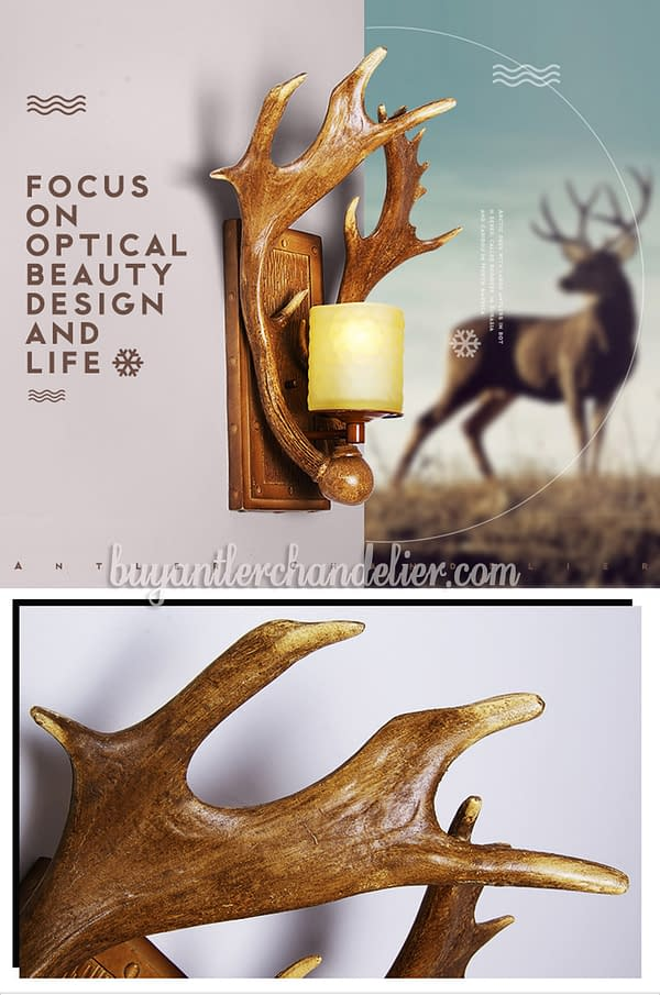 Moose Antler Wall Lights Sconces Outdoor Lamp With Plug In Buyantlerchandelier Com