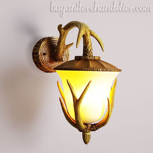 Rustic Antler Wall Lamp Light Sconces