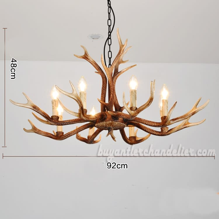 2018 New 8 Cast Antler Chandeliers Eight Candelabra Ceiling Lights Rustic Lighting Home Decor Fixtures 36 Inch