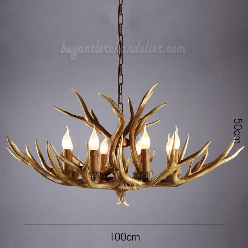 Elk 8 Cast Antler Chandelier Eight Candle Style Cascade Pendant Lights Rustic Hanging Lighting Fixtures