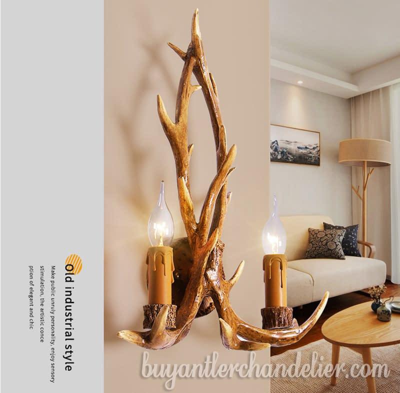 Antler Wall Light Sconces Rustic Light Home Decor Lighting ...